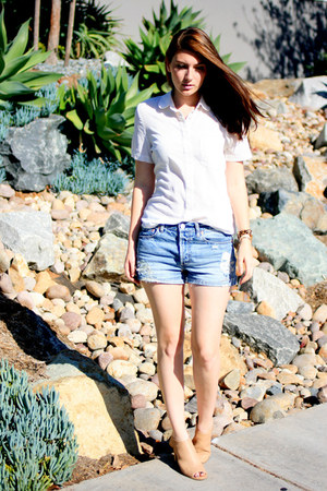 light blue BDG shorts