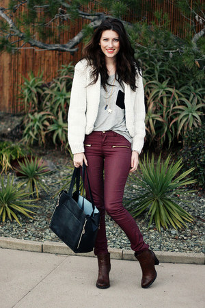 Maroon Vila Pants How To Wear And Where To Buy Chictopia