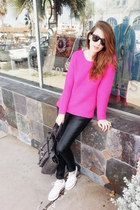hot pink romwe sweater