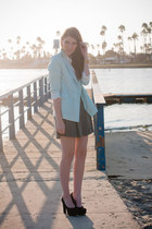 light blue Chicwish blazer - black Call it Spring heels