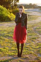 ruby red DIY skirt