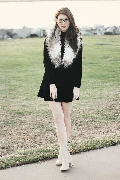 beige H&M shoes - black These Days x Sketch Street dress