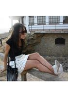 Zara skirt - Zara accessories - asos shoes - H&M accessories