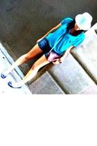 pull&bear t-shirt - Zara shorts - Gloria Ortiz shoes - Zara purse - H&M hat - St