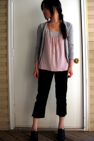 Express blouse - H&M sweater - H&M pants - Madden Girl boots