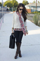 MARC CAIN boots - J Brand jeans - LF sweater - Zara bag - Nordstrom blouse