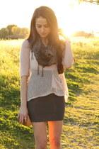 Forever 21 sweater - Ivy Blue scarf - BCBG skirt - Steve Madden heels