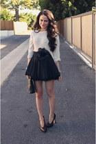 LF sweater - Prada bag - LF heels - francescas belt - LF skirt