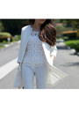 White-zara-coat-bcbg-top