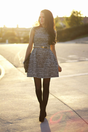 Zara dress - Zara bag - bcbg generation belt - Topshop heels