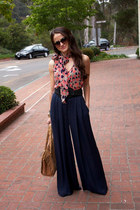 palazzo Elizabeth and James pants - Collective Concepts top - BCBG belt
