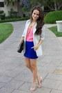 Elizabeth-james-blazer-vintage-necklace-mini-dvf-skirt-studded-valentino