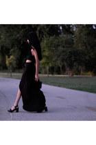 black rayon American Apparel top - black rayon American Apparel skirt
