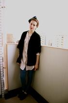 H&M blouse - Lost & Found Tokyo cardigan - H&M leggings - H&M accessories - Targ