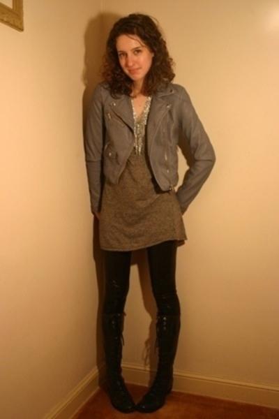 Rogan for Target dress - H&M jacket - Target leggings - H&M necklace - boots
