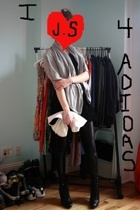 jeremy scott for adidas dress - H&M cardigan - Target leggings - payless boots