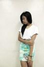 Ivory-from-korea-shoes-white-kentucky-shirt-aquamarine-forever-21-earrings
