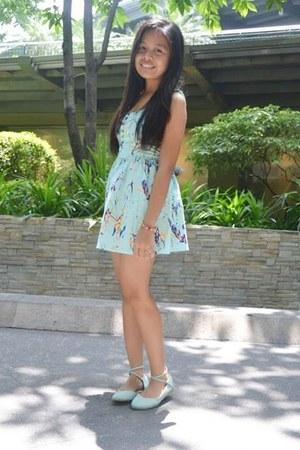 aquamarine thrifted dress - light blue from Korea flats