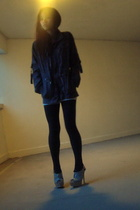 Topshop top - River Island shoes - oldie from the closet jacket