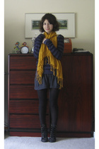 Urban Outfitters sweater - American Apparel skirt - H&M scarf - Colin Stuart sho