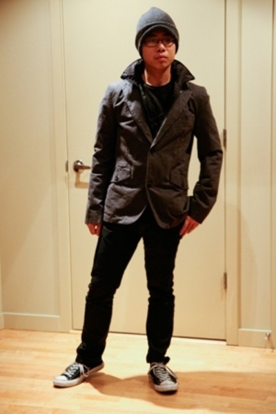 banana republic hat - Zara blazer - Zara jeans - Converse shoes