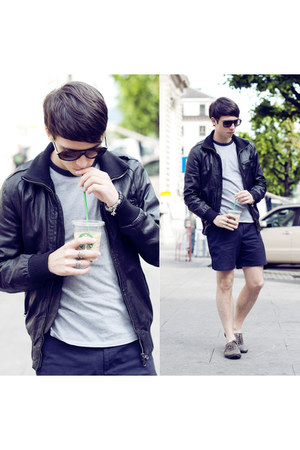 teal iced coffee Starbucks accessories - gray Zara shoes - black Zara jacket