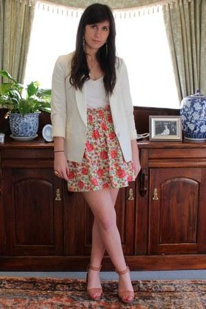 Topshop blazer - Karen Walker skirt - Miu Miu shoes
