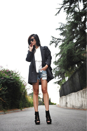 oversized bf Kai-aakmann coat - wedge leather Lucky Brand shoes