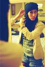 Heather-gray-thrifted-shirt-peach-h-m-blazer-dark-brown-forever-21-boots-d