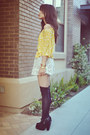 Black-ebay-boots-lace-american-rag-dress-forever-21-socks-light-yellow-pol