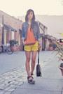 orange two-toned sheer 2020AVE blouse - platform sandal DV by dolce vita shoes
