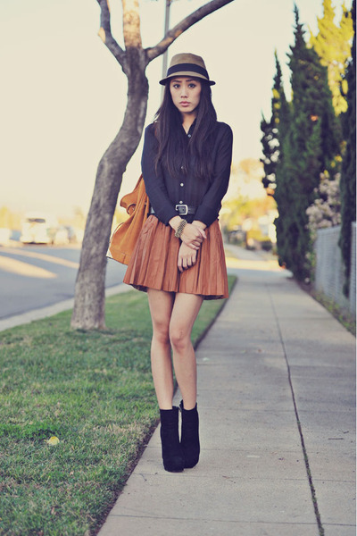 fedora Forever 21 hat - Dolce Vita boots - Alexander Wang bag