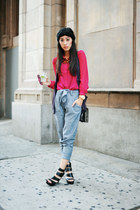 kasil pants - melie bianco bag - wedge leather Guess sandals