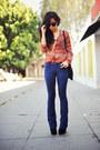 Black-suede-dolce-vita-boots-blue-gap-jeans-chiffon-pink-bullet-blouse