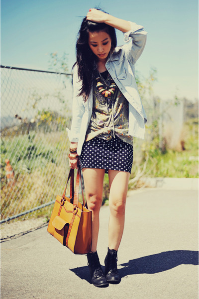 chunky Forever 21 necklace - lace-up Forever 21 shoes - denim Gap jacket