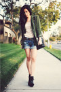 H-m-dress-silk-vintage-blazer-kmart-bag-denim-vintage-true-religion-shorts