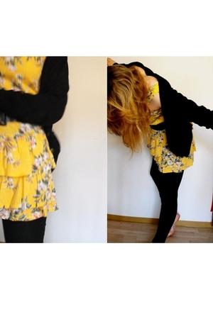 No label dress - H&M leggings - H&M blouse