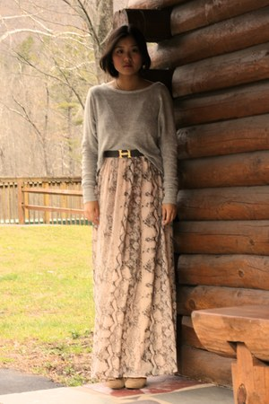 brandy melville sweater - H&M Trend dress - Hermes belt
