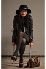 Vintage-shoes-alexander-wang-dress-wool-barbour-hat-moda-jacket