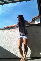 Pac Sun shirt - belt - shorts