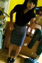 unknown brand blouse - Forever 21 skirt - Forever 21 shoes