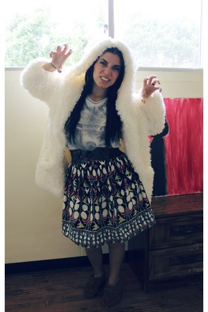 nature design skirt - sweater - wolf print shirt
