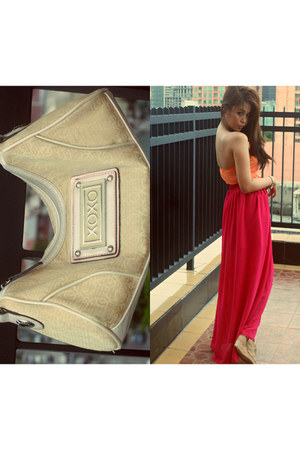 chiffon State of Pink skirt - handbag XOXO bag
