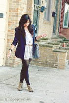 navy padded blazer Forever21 blazer - dark khaki lace up oxfords shoes