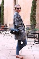 Zara jeans - SANDRO jacket - Chanel bag - Repetto flats - Ray Ban glasses