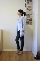 blue Ralph Lauren cardigan - blue BDG jeans - beige calvin klein shoes - white L