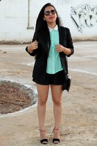 Forever21 blouse - Traki blazer - Aishop shorts - Nine West sunglasses