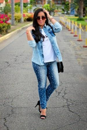 Zara blouse - Estambul blouse - Aishop bag - Local store sunglasses