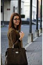 Mango bag - Zara blouse - david delfin glasses