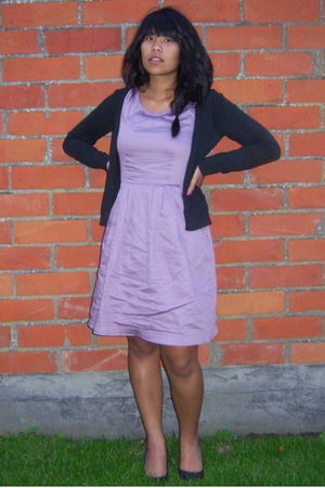 purple H&M dress - purple Sasha shoes